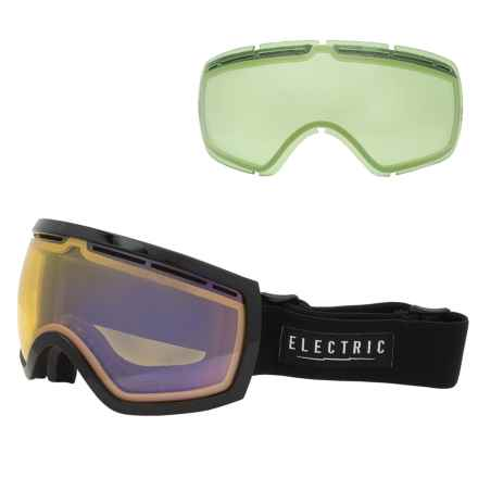 Electric EG2.5 Ski Goggles - Extra Lens in Gloss Black/Yellow/Blue Chrome - Closeouts