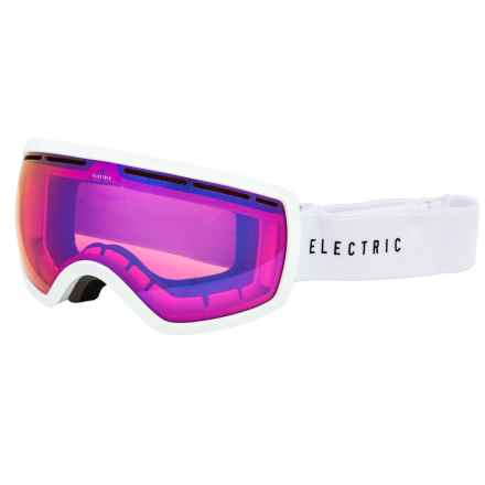 Electric EG2.5 Ski Goggles - Extra Lens in Gloss White/Rose Blue Chrome - Closeouts