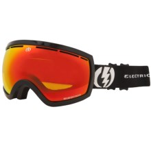 Electric EG2.5 Snowsport Goggle - Flash Colored Lens (For Women) in Gloss Black/Bronze/Red Chrome - Closeouts