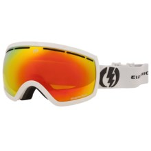 Electric EG2.5 Snowsport Goggle - Flash Colored Lens (For Women) in Gloss White/Bronze/Red Chrome - Closeouts
