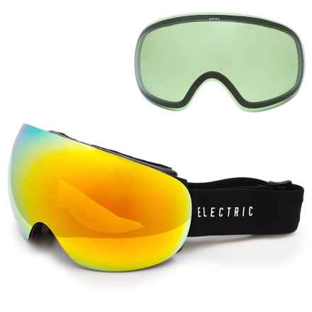 Electric EG3 Ski Goggles - Extra Lens in Gloss Black/Bronze/Red Chrome - Closeouts