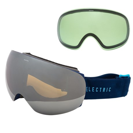 Electric EG3 Ski Goggles - Extra Lens in Navy Cyan/Bronze Silver Chrome