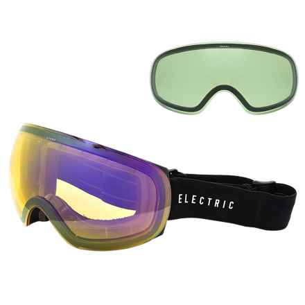 Electric EG3.5 Ski Goggles - Extra Lens in Gloss Black/Bronze Silver Chrome - Closeouts