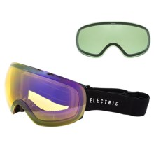 Electric EG3.5 Snowsport Goggles - Extra Lens in Gloss Black/Bronze Silver Chrome - Closeouts
