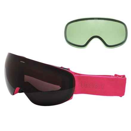 Electric EG3.5 Snowsport Goggles - Extra Lens in Solid Berry/Jet Black - Closeouts