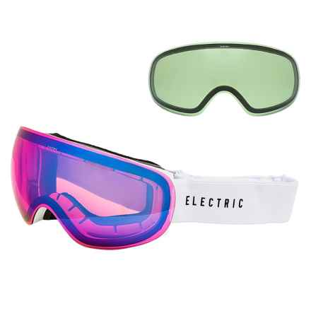 Electric EG3.5 Snowsport Goggles - Extra Lens in Tiedye Green/Rose Blue Chrome - Closeouts