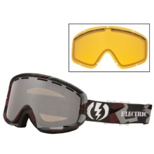Electric EGB2 Snowsport Goggle - Printed Frame in Disorganize/Bronze/Silver Chrome - Closeouts