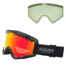 Electric EGV Ski Goggles - Extra Lens in Gloss Black/Bronze/Red Chrome - Closeouts