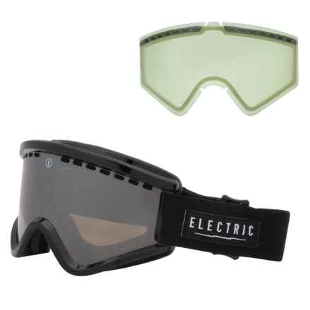Electric EGV Ski Goggles - Extra Lens in Gloss Black/Bronze/Silver Chrome - Closeouts