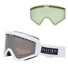 Electric EGV Ski Goggles - Extra Lens in Gloss White/Bronze/Silver Chrome - Closeouts