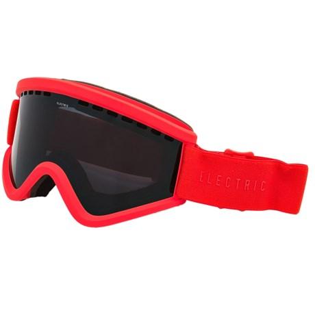 Electric EGV Ski Goggles - Extra Lens in Solid Orange/Jet Black