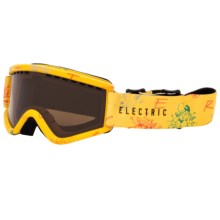 Electric EGV.K Ski Goggles (For Big Kids) in Cartoon Yellow/Bronze - Closeouts