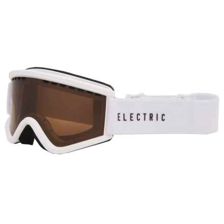 Electric EGV.K Ski Goggles (For Big Kids) in Gloss White/Bronze - Closeouts