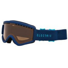 Electric EGV.K Ski Goggles (For Big Kids) in Navy Cyan/Bronze - Closeouts