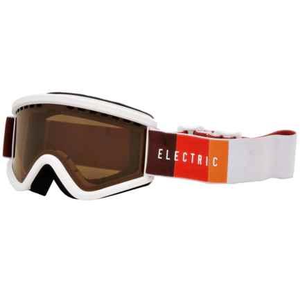 Electric EGV.K Ski Goggles (For Big Kids) in Orange Blast White/Bronze - Closeouts