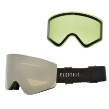 Electric EGX Ski Goggles - Extra Lens in Gloss Black/Bronze Silver Chrome - Closeouts