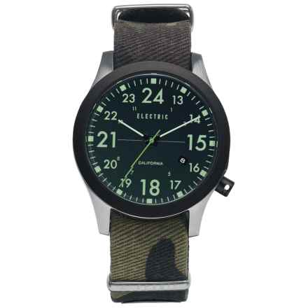 Electric FW01 Nato Watch (For Men) in Black/Camo - Closeouts