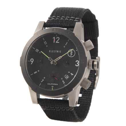 Electric FW02 Fashion Chronograph Watch - 44mm, NATO Strap (For Men) in Black - Closeouts