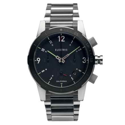Electric FW02 Fashion Watch - 44mm, Stainless Steel Bracelet (For Men) in Black - Closeouts