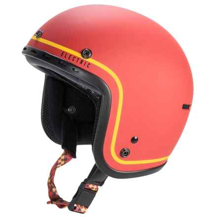 Electric Mashman C Ski Helmet in Matte Red/Yellow Stripe - Closeouts