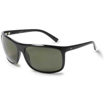 Electric Outline Sunglasses - Polarized in Gloss Black/Melanin Grey - Overstock
