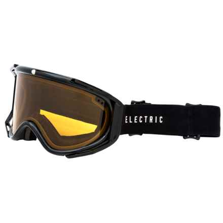 Electric RIG Ski Goggles in Gloss Black/Bronze - Closeouts