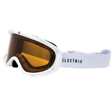Electric RIG Ski Goggles in Gloss White/Bronze - Closeouts