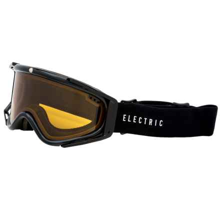 Electric RIG.5 Ski Goggles in Gloss Black/Bronze - Closeouts