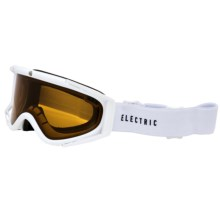Electric RIG.5 Ski Goggles in Gloss White/Bronze - Closeouts