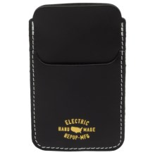 Electric Wells iPhone® Case - Leather (For Men) in Black - Closeouts