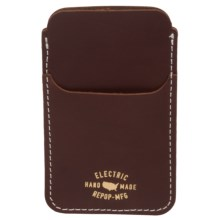 Electric Wells iPhone® Case - Leather (For Men) in Blood Red - Closeouts