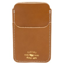Electric Wells iPhone® Case - Leather (For Men) in Tan - Closeouts