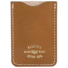 Electric Weylon Cash Card Holder - Leather (For Men) in Tan - Closeouts