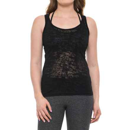 Electric Yoga Burnout Tank Top (For Women) in Black - Closeouts