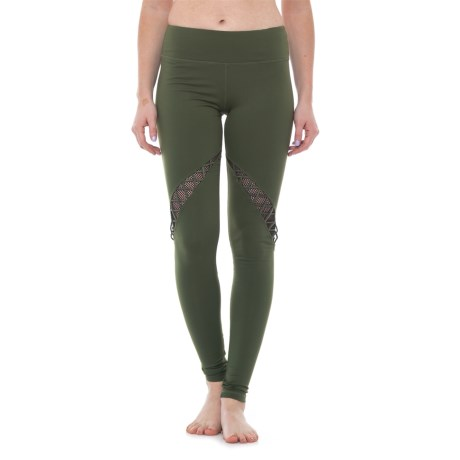 Electric Yoga Intwined Leggings (For Women) in Army