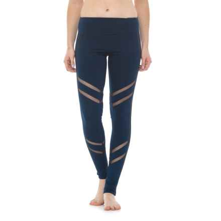 Electric Yoga Mesh-Morized Leggings (For Women) in Navy - Closeouts