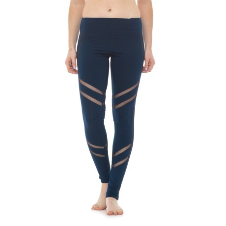 Electric Yoga Mesh-Morized Leggings (For Women) in Navy