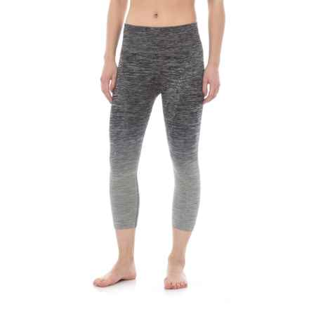 Electric Yoga Ombre Faded Capris (For Women) in Gray - Closeouts