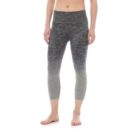 Electric Yoga Ombre Faded Capris (For Women) in Gray