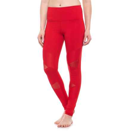 Electric Yoga Sculpt Leggings - High Waist (For Women) in Red - Closeouts
