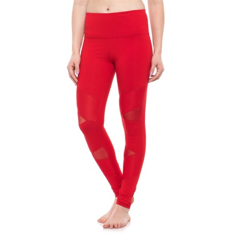Electric Yoga Sculpt Leggings - High Waist (For Women) in Red