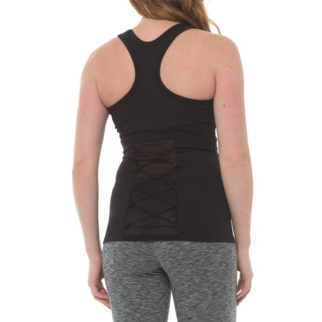 Electric Yoga The Knotty Tank Top - Racerback, Built-In Bra (For Women) in Black