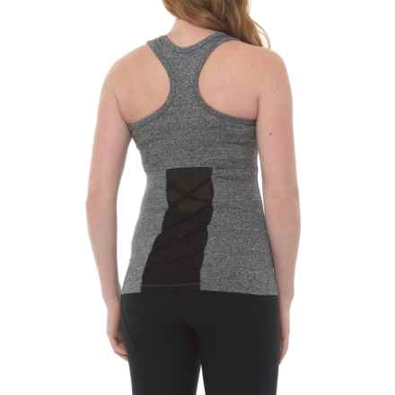 Electric Yoga The Knotty Tank Top - Racerback, Built-In Bra (For Women) in Heather Grey - Closeouts