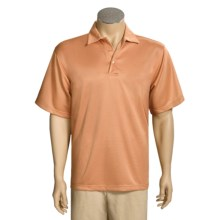 Element 47 Super Cell Polo Shirt - Short Sleeve (For Men) in Roughy - Closeouts