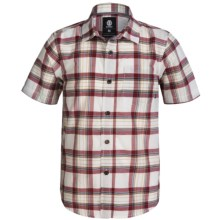 Element Benchmark Vintage Plaid Shirt - Short Sleeve (For Little and Big Boys) in Flint - Closeouts
