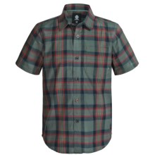 Element Benchmark Vintage Plaid Shirt - Short Sleeve (For Little and Big Boys) in Slate - Closeouts