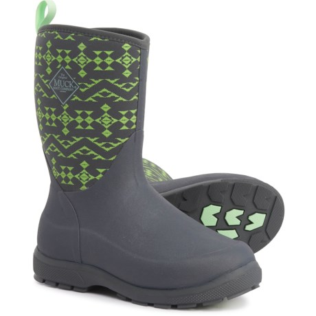 Element Boots - Waterproof, Insulated (For Boys) - GREY/LIME GREEN (6C )