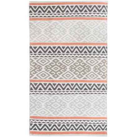 "Element Bordered Damask Jacquard Rug - 27x45"" in Grey - Closeouts"