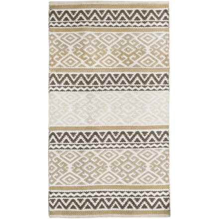 "Element Bordered Damask Jacquard Rug - 27x45"" in Sand - Closeouts"