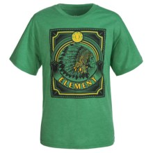 Element Chief Graphic T-Shirt - Short Sleeve (For Little and Big Boys) in Kelly Heather - Closeouts